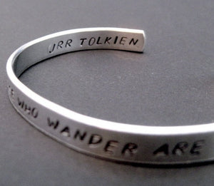 Tolkien Bracelet - Not All Those Who Wander Are Lost