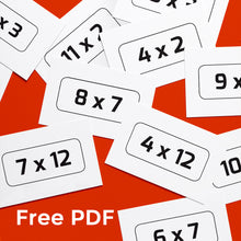 Free Printable Times Tables Cards