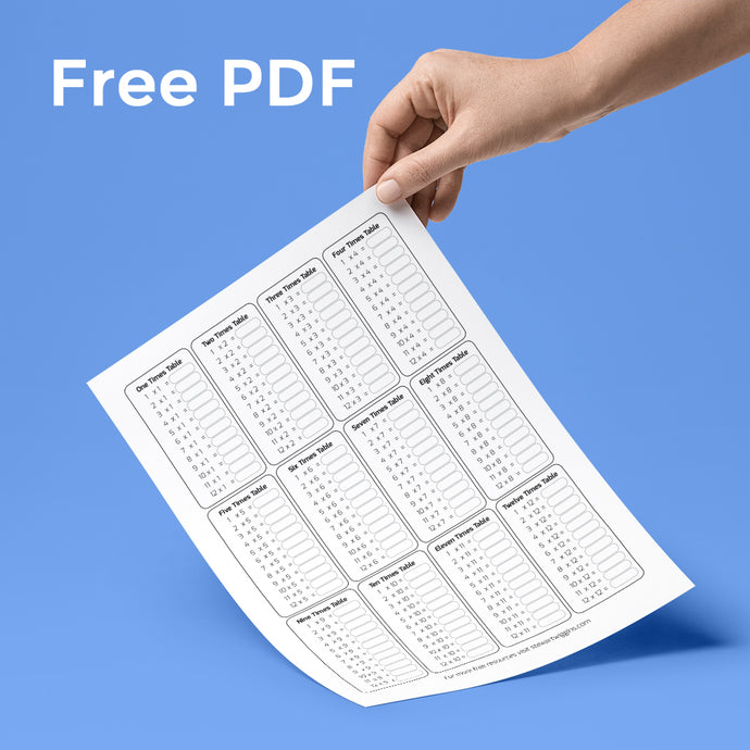 Free Printable Times Tables (1-12) no Answers