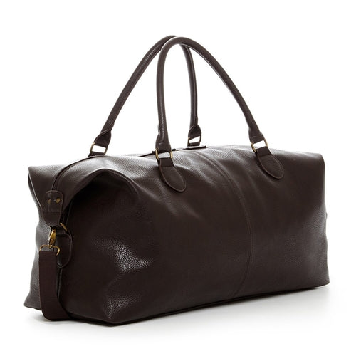 Gunner Vegan Leather Duffle Bag - Brown - Broadwood Mercantile