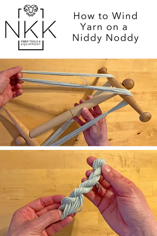 how to wind yarn on a niddy noddy