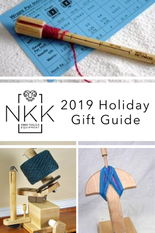 NKK tools holiday gift guide for knitters crocheters handspinners fiber artists