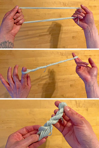 how to twist yarn into a hank