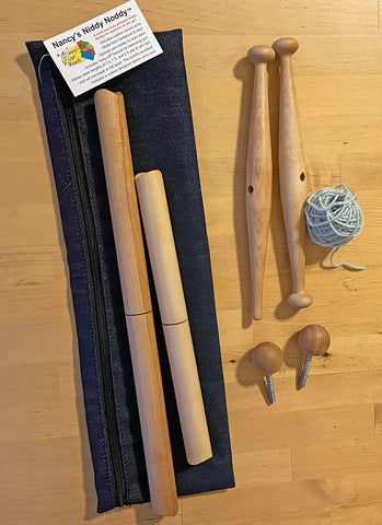 nancy's knit knacks niddy noddy for winding and measuring yarn