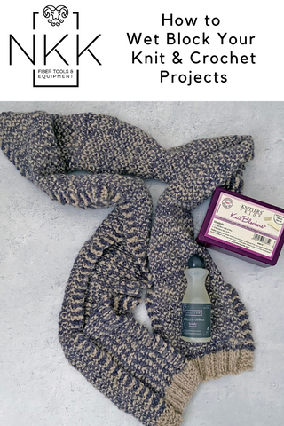 How to Wet Block Your Knit & Crochet Projects