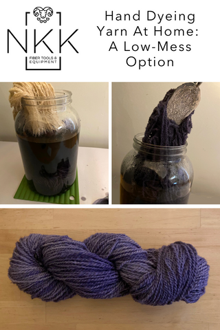 Hand Dyeing Yarn At Home: A Low-Mess Option