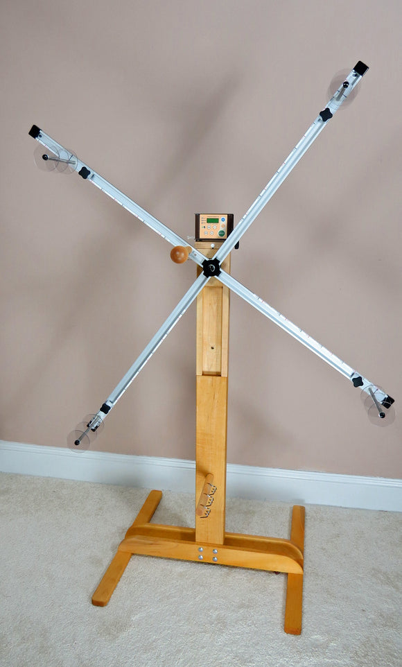 Skein-winder, 4 Yard Floor Stand Only, with Electronic Rotation Counter (ERC), and standard single skein yarn guides