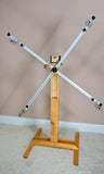 Skein-winder, 4 Yard Floor Stand Only, with Electronic Rotation Counter (ERC), and standard single skein yarn guides -Q