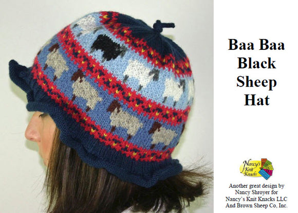Baa  Baa Black Sheep Hat Pattern - Download