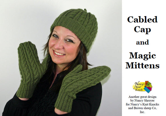 Cabled Cap and Magic Mittens - Download