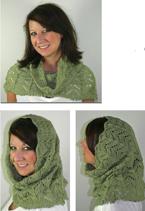 Lace Hooded Cowl