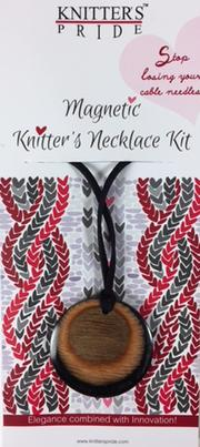 Magnetic Knitter's Necklace wood pendant