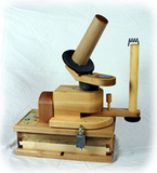 Motorized Ball Winder. The Heavy Duty Ball Winder mounted on the Power Base.