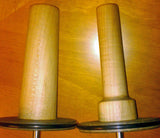 Standard Spindle on left, Small Diameter Spindle on right