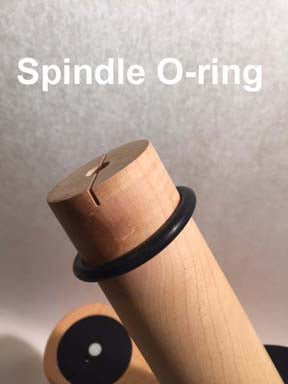 O-ring (4) for top of BW Spindle