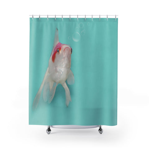Fancy Goldfish Aqua Shower Curtain - Jim N Em Designs