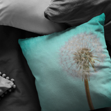 Dandelion Pillow Aqua Sky Make a Wish - Jim N Em Designs