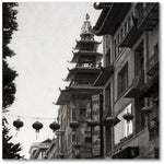 Chinatown Bicycle Rider Black and White Gallery Canvas Mini Print - Jim N Em Designs