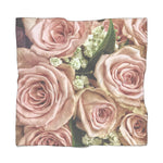 Pink Rose Bouquet Poly Scarf - Jim N Em Designs