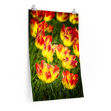 Tulip Field Bright Flowers Premium Matte vertical poster - Jim N Em Designs