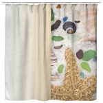 Shells Starfish Sea Star Beach Glass Shower Curtain - Jim N Em Designs