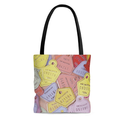 European Bicycle License Plates Pastel AOP All Over Print Tote Bag - Jim N Em Designs