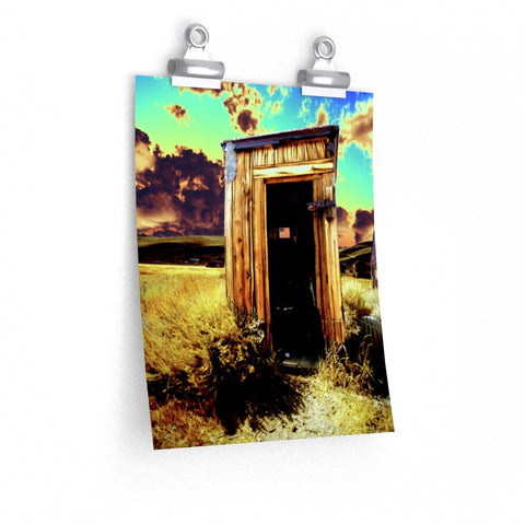 Bodie Outhouse Psychedelic Art Print Premium Matte vertical poster - Jim N Em Designs