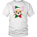 Chihuahua Dog in Santa Hat Christmas T-shirt - Jim N Em Designs