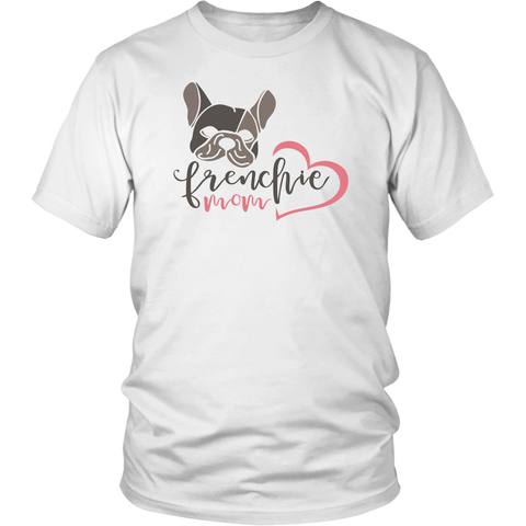 Frenchie Mom T-Shirt Black or White - Jim N Em Designs