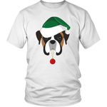 Boxer Dog in Santa Hat Christmas T-Shirt - Jim N Em Designs