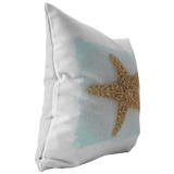 Star Fish Sea Star Aqua Ocean Decor Throw Pillow Home Decor - Jim N Em Designs