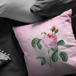 Pink Cabbage Rose Throw Pillow Shabby Room Victorian Decor - Jim N Em Designs