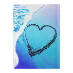 Heart in the Sand Journal Aqua and Blue - Jim N Em Designs