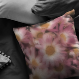 Pink Mums Chrysanthemum Throw Pillow Home Decor - Jim N Em Designs