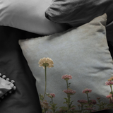 Zinnia Field in Sunlight Throw Pillow - Jim N Em Designs