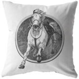 Charging Horse Vintage Etching Throw Pillow Home Decor - Jim N Em Designs