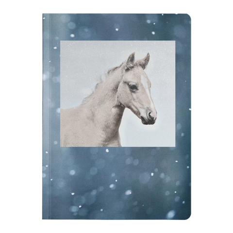 Palomino Horse Colt Portrait Snow Flurries Paperback Journal - Jim N Em Designs