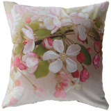 Pink Crabapple Spring Bloom Blossom Flower Floral Garden Throw Pillow Home Decor - Warm Tones - Jim N Em Designs