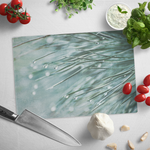 Dewey Pine Needles Teal Abstract Glass Cutting Board - Jim N Em Designs