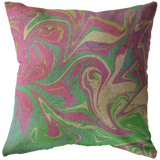 Tie Dye Pastel Tea Stained Throw Pillow Home Decor - Jim N Em Designs