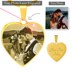 Personalized Engraved Photo Necklace - Jim N Em Designs