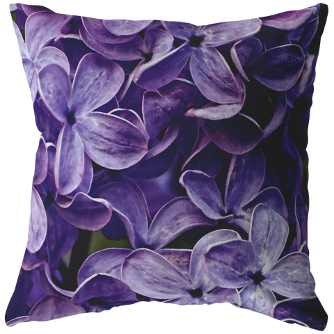 Lovely Lilacs Purple Lavender Throw Pillow Flower Floral Garden Home Decor - Jim N Em Designs