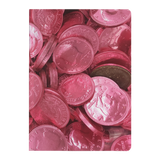 Pink Candy Coins Paperback Journal - Jim N Em Designs