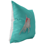Aqua Goldfish Bubbles Throw Pillow Home Decor - Jim N Em Designs