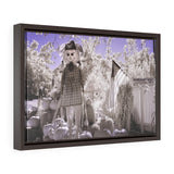 Horizontal Framed Premium Gallery Wrap Canvas Print Cute Scarecrow in Pumpkin Patch - Jim N Em Designs