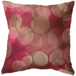 Pink Bokeh Light Circles Dots Throw Pillow Home Decor - Jim N Em Designs
