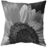 Black and White Sunflower Throw Pillow Flower Floral Garden Petal Home Decor - Jim N Em Designs