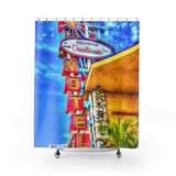 Vintage Neon Motel Sign Shower Curtain - Jim N Em Designs