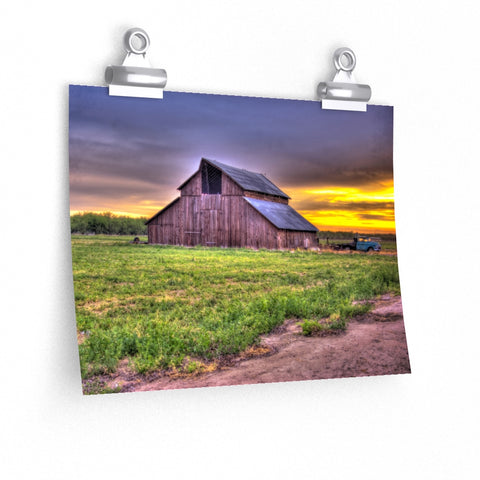 Old Barn Rustic Photo Wall Art Premium Matte horizontal poster - Jim N Em Designs