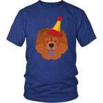 Chow Chow Dog in Party Hat T-shirt - Jim N Em Designs